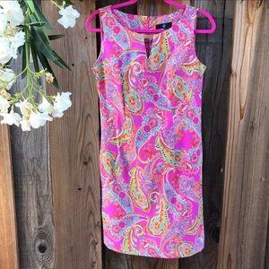 Ronni Nicole Bright Pink Paisley Dress.